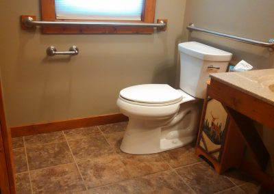 Handicapped accessible toilet