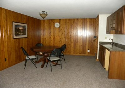 Twin Oaks- rec room, game table