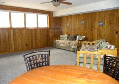 Twin Oaks- rec room with trundle beds